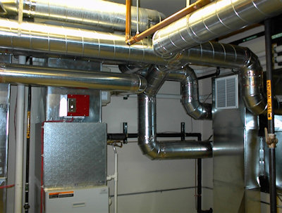 Complete heating, cooling, and ventilation system installation.