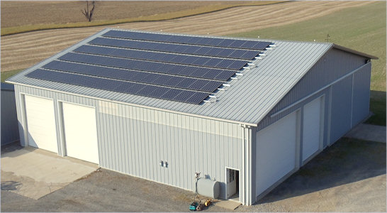 A warehouse featuring our Solar System Installations